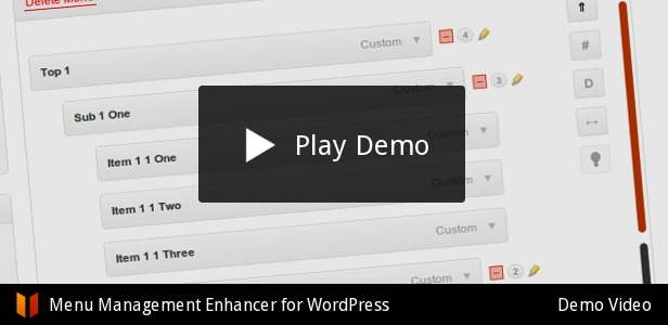 Top Play Demo TWO Cusiom flW Menu Management Enhancer for WordPress